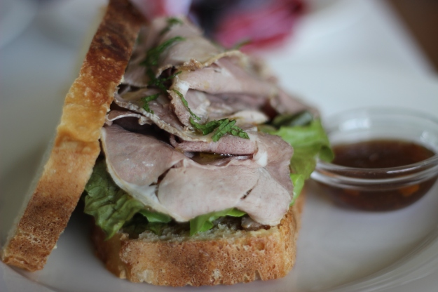 Roast Karoo lamba and mint sandwich